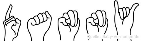 Danny im Fingeralphabet der Deutschen Gebärdensprache