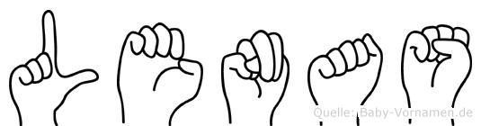 Lenas in Fingersprache für Gehörlose