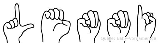 Lenni in Fingersprache für Gehörlose