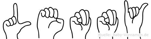 Lenny in Fingersprache für Gehörlose