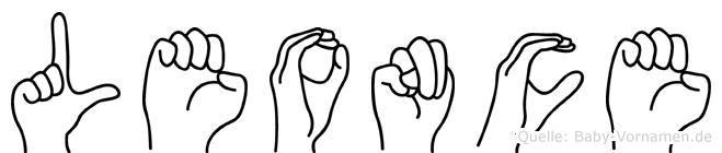 Leonce in Fingersprache für Gehörlose
