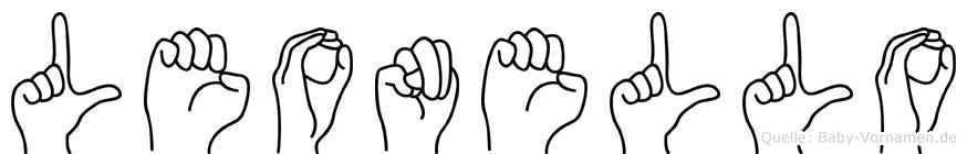 Leonello in Fingersprache für Gehörlose