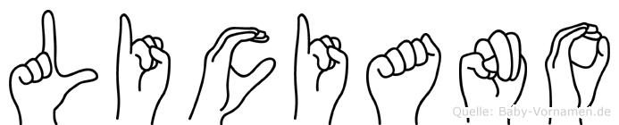 Liciano in Fingersprache für Gehörlose