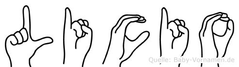 Licio in Fingersprache für Gehörlose