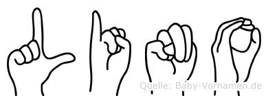Lino im Fingeralphabet der Deutschen Gebärdensprache