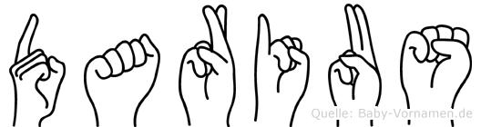 Darius im Fingeralphabet der Deutschen Gebärdensprache