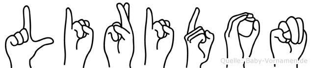Liridon im Fingeralphabet der Deutschen Gebärdensprache