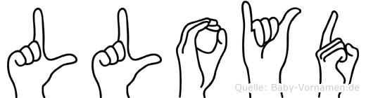 Lloyd im Fingeralphabet der Deutschen Gebärdensprache