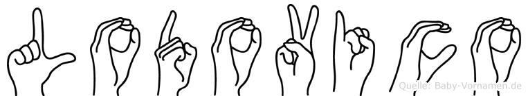 Lodovico im Fingeralphabet der Deutschen Gebärdensprache