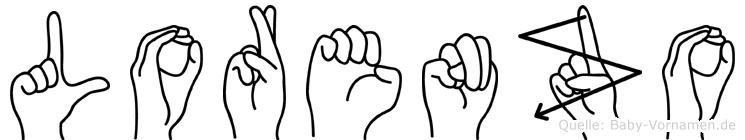 Lorenzo im Fingeralphabet der Deutschen Gebärdensprache