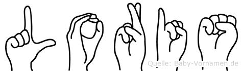 Loris im Fingeralphabet der Deutschen Gebärdensprache