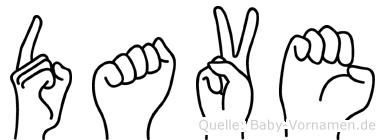 Dave in Fingersprache für Gehörlose