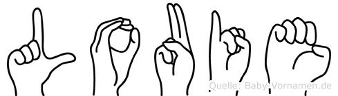 Louie im Fingeralphabet der Deutschen Gebärdensprache