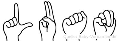 Luan in Fingersprache für Gehörlose