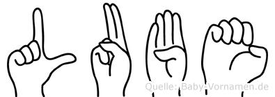 Lube im Fingeralphabet der Deutschen Gebärdensprache