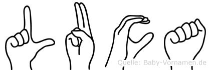Luca in Fingersprache für Gehörlose