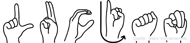 Lucjan im Fingeralphabet der Deutschen Gebärdensprache