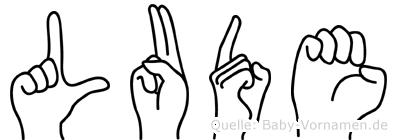 Lude im Fingeralphabet der Deutschen Gebärdensprache