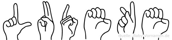 Ludeke im Fingeralphabet der Deutschen Gebärdensprache