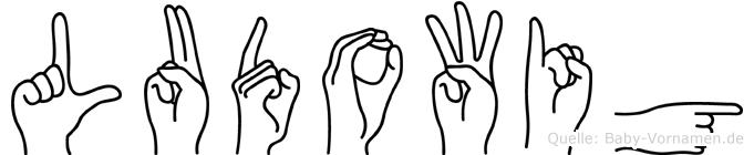 Ludowig im Fingeralphabet der Deutschen Gebärdensprache