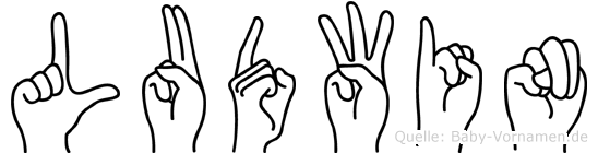 Ludwin im Fingeralphabet der Deutschen Gebärdensprache