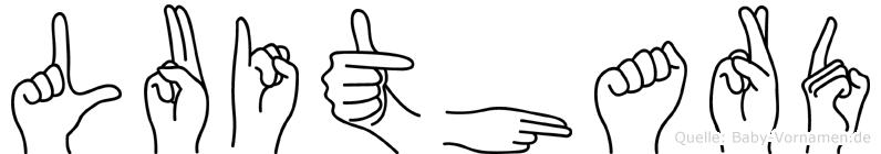 Luithard im Fingeralphabet der Deutschen Gebärdensprache