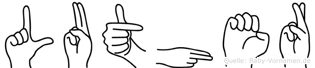 Luther in Fingersprache für Gehörlose