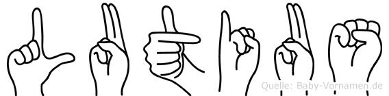 Lutius in Fingersprache für Gehörlose