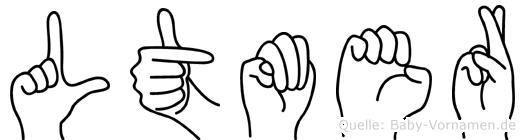 Lütmer im Fingeralphabet der Deutschen Gebärdensprache