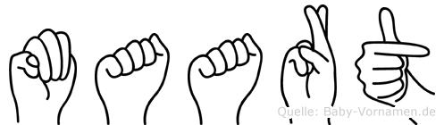 Maart in Fingersprache für Gehörlose