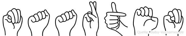 Maarten in Fingersprache für Gehörlose