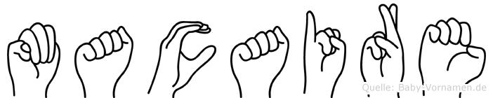 Macaire im Fingeralphabet der Deutschen Gebärdensprache