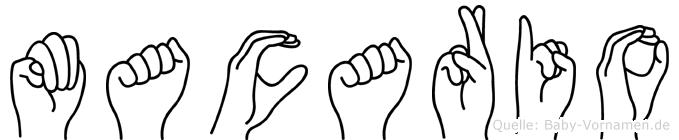 Macario im Fingeralphabet der Deutschen Gebärdensprache