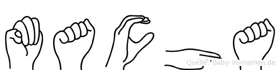 Macha in Fingersprache für Gehörlose