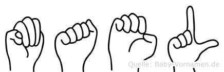 Mael im Fingeralphabet der Deutschen Gebärdensprache