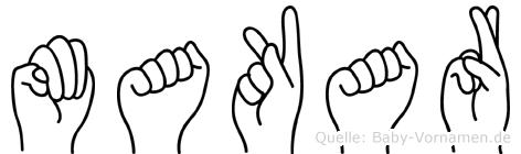 Makar in Fingersprache für Gehörlose