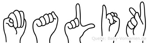 Malik im Fingeralphabet der Deutschen Gebärdensprache