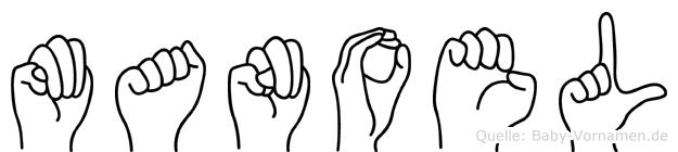 Manoel im Fingeralphabet der Deutschen Gebärdensprache