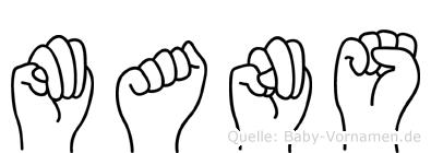 Mans im Fingeralphabet der Deutschen Gebärdensprache
