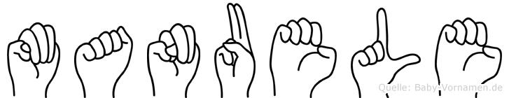 Manuele im Fingeralphabet der Deutschen Gebärdensprache