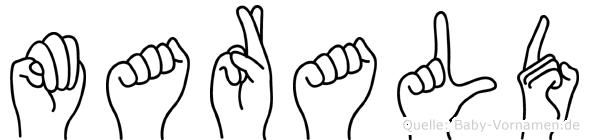 Marald in Fingersprache für Gehörlose