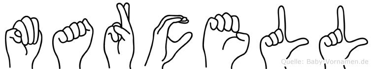 Marcell im Fingeralphabet der Deutschen Gebärdensprache