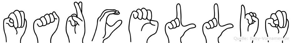 Marcellin im Fingeralphabet der Deutschen Gebärdensprache