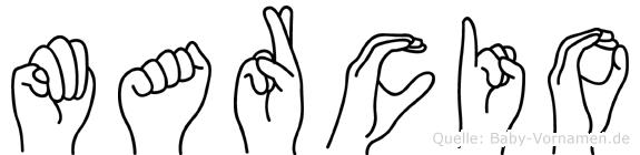 Marcio im Fingeralphabet der Deutschen Gebärdensprache