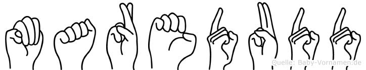 Maredudd im Fingeralphabet der Deutschen Gebärdensprache