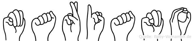 Mariano in Fingersprache für Gehörlose