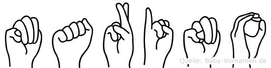 Marino im Fingeralphabet der Deutschen Gebärdensprache