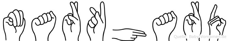 Markhard in Fingersprache für Gehörlose