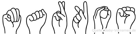 Markos in Fingersprache für Gehörlose