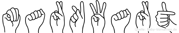 Markwart im Fingeralphabet der Deutschen Gebärdensprache